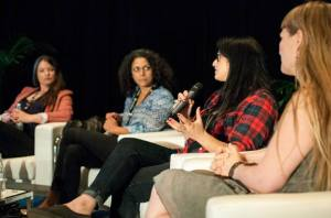 Sari speaking at Canadian Music Week 2015